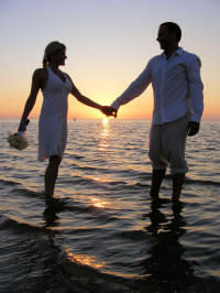 Clearwater Beach Wedding at Sunset Time